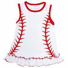 742c2c14caa6 Girls Baseball Shirt with Ruffle Baseball Girls, Baseball Dress, Cute  Shirts, Kids Shirts. Unique Baby Shop
