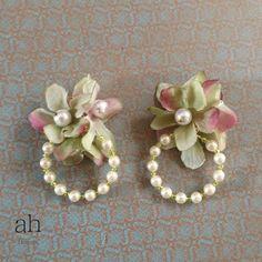 フラワーピアス 001 【ah flowers】