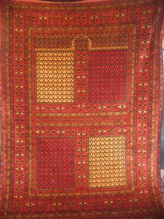"Very spare, elegant, ""modern"" design of a Caucasian Shirvan prayer rug from Azerbaijan."