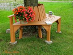 How to Make a Pallet Tree Seat