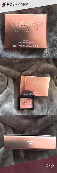 NARS mini blush NEW NEW IN THE BOX  NARS MINI BLUSH  COLOR: Orgasm #whatmakesyoublush NARS Makeup Blush