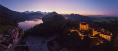 Fussen Town, Neuschwanstein and  Hohenschwangau Castles, Germany - AirPano.com • 360° Aerial Panoramas • 3D Virtual Tours Around the World