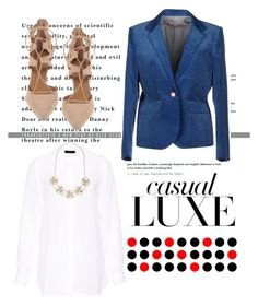 """""""Casual deluxe"""" by cranberrym ❤ liked on Polyvore featuring moda, Hallhuber, Band of Outsiders, Forever New, Aquazzura, women's clothing, women, female, woman e misses"""