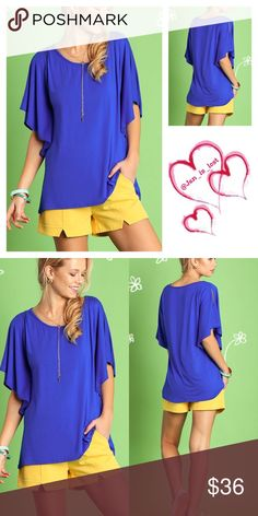 Ruffled Open Shoulder Top S,M,L Loved by Ruffles Open Shoulder Top*I know you already have outfits lined up that you can basically walk the runway with, but you should also make sure you have casual outfits are dressed to kill  Color: Blue Fabric: COTTON BLEND  No trades  ✅ Reasonable offers welcomed. ✅ Happy Poshing  Tops