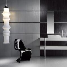 Dual coloured grey textured tiles