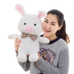 55cm  Factory direct sale < turned out to be a handsome man > pig rabbit plush toy doll doll to give gifts #Affiliate