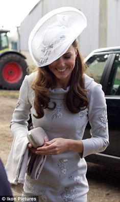 Her Royal Highness The Duchess of Cambridge attending the wedding of a friend. September 30, 2012.