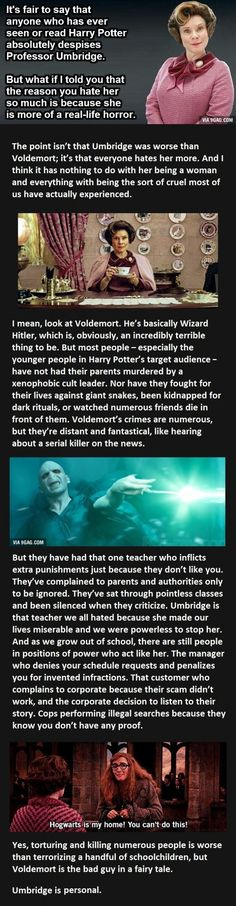 The Real Reason You Hate Umbridge So Much. This Guy Nails It.