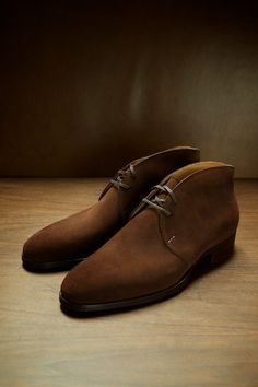 The 524 Chukka Boot in BCK 076 Custom made for UNO Saint Crispins at The Armoury