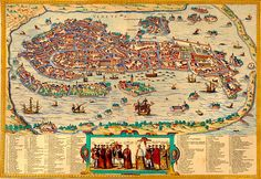 Here's a great map of the city of Venice, showing most of the major buildings from 1565