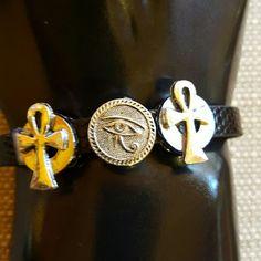 Wristband Ankh & Eye of Ra charms bracelet Wristband Ankh & Eye of  Bracelet charms Bracelet. Jewelry Bracelets