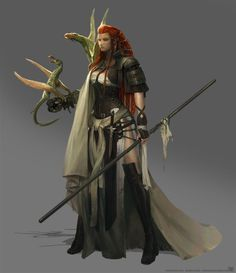 Game of Thrones Fan art - Dragon born [fighter, magus] 3d Fantasy, Fantasy Warrior, Fantasy Women, Medieval Fantasy, Fantasy Girl, Character Concept, Character Art, Concept Art, Character Design