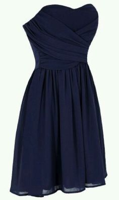 Navy blue homecoming dress, love the top and skirt of this.