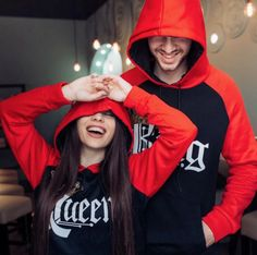 Royal King & Queen hoodies were created to bring two beautiful souls together for eternity. It has never been so easy to feel special and stand out from the crowd with someone you hold so close to your heart.