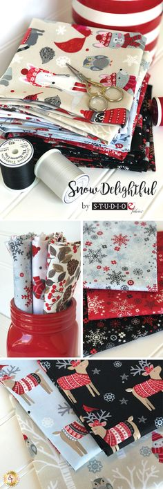 Snow Delightful by Natalie Alex for Studio E Fabrics is a fun winter fabric collection available at Shabby Fabrics!