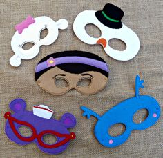 Doc Felt Masks Dress up Party Favor Free Domestic by FrillyLane, $35.00
