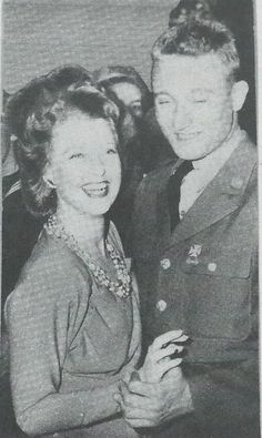 A magazine snip of Jeanette MacDonald dancing with a serviceman at the Hollywood Canteen - ESCANO COLLECTION