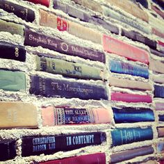 "secretsafebooks:  ""Books aren't just my defenses, the sandbags I use to fortify my position; they are also the building blocks of my soul, and I am the sum of all I read."" ~ Jonathan Hull, Losing Julia  Book wall at Literati Cafe in Los Angeles ~ http://www.literaticafe.com/ Photo via ~ http://web.stagram.com/p/189757884425335773_8350027"