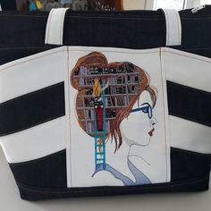 Brigitte Morin sur Instagram: Bonjour Voici un joli sac biguine de @patrons_sacotin avec une jolie broderie qui m'a été offerte Les tissus sont des jeans de…