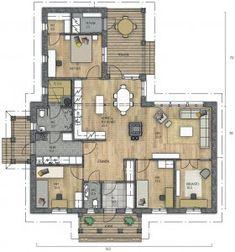Tää on aika hyvä! Bungalow, Sims 4 Build, Aurora, My Dream Home, Future House, House Plans, Sweet Home, Villa, Floor Plans