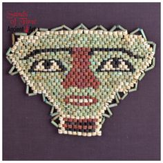 An Egyptian Beaded Mummy Mask, Late - Ptolemaic Period, ca. Ancient Art, Ancient Egypt, Blue Chalcedony, Ancient Jewelry, Red Glass, Custom Framing, Wearable Art, Gifts For Him, Egyptian