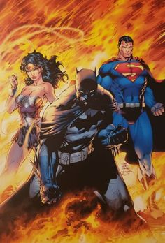 Batman, Wonder Woman & Superman by Jim Lee Dc Comics Art, Marvel Comics, Dc Comics Characters, Ms Marvel, Captain Marvel, Jim Lee Batman, Batman And Superman, Superman Artwork, Batman Stuff