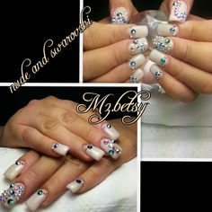 Nude and swarovski crystals:)