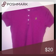 Ralph Lauren Women's Large Polo Short-sleeved purple polo with no rips or tears, like-new condition Ralph Lauren Tops