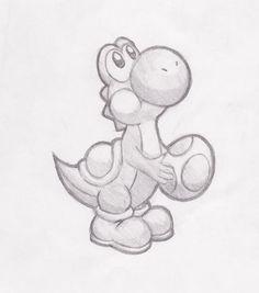Yoshi Sketch de en deviantart - # Yoshi Sketch from on deviantart - Yoshi Sketch de en deviantart - # Easy Disney Drawings, Cool Art Drawings, Art Drawings Sketches, Easy Drawings, Pencil Sketch Drawing, Pencil Art Drawings, Animal Drawings, Cartoon Sketches, Cartoon Art