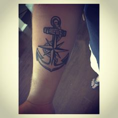 Nautical star and anchor tattoo. Done in Jacksonville, Florida at Inksmith and Rogers! Tattoo You, Arm Tattoo, Sleeve Tattoos, Small Anchor Tattoos, Small Tattoos, Sun Tattoos, Cool Tattoos, Nautical Star Tattoos, Florida Tattoos