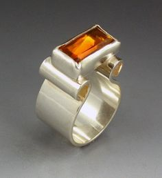 Sterling Silver Amber Cocktail Ring vintage by MicheleGradyDesigns, $94.00 #SephoraColorWash