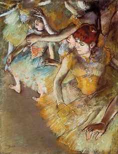 edgar degas ballet dancers on the stage
