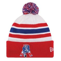 Official New England Patriots ProShop - Youth New Era Throwback 2013 On Field Knit Hat