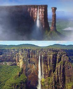 Up - Altas Aventuras Paraíso das Cachoeiras, de Up - Altas Aventuras.  Inspiração: Salto Ángel ou Cataratas Ángel, na Venezuela.