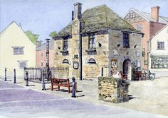 Agent Art Print featuring the painting The Bartholomew Rooms At Eynsham by Mike Lester