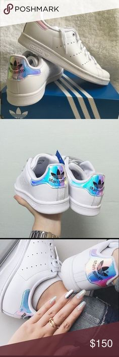Holographic Stan Smith 4.5Y Brand new in box. Sold out everywhere!! 4.5Y kids or 6 in women's. Super cute! Adidas Shoes Sneakers