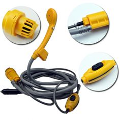 Xcellent Global DC 12V Portable Shower Spray Set with Water Pump for Travel Outdoor, Camping, Boating, Sun Bathing, Pet Washing and Baby Shower AT012 -- Want to know more, click on the image.