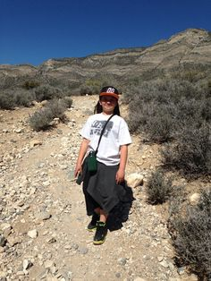 Hiking the Keystone Thrust Trail at Red Rock Canyon.