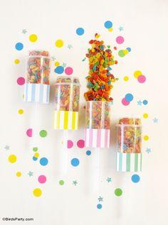 Confetti New Year's Eve DIY Party Ideas - BirdsParty.com