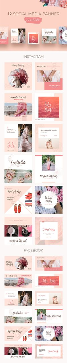 Peach Social Media Templates - download freebie by PixelBuddha