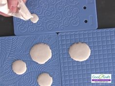 use fiskars (and even stampin up) texture plates to make molds for cards and other crafts (even stamps!)