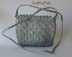 Bag Macrame Handmade Medium size Weaving Bag Ivory by CraftingMode