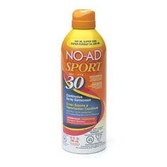 NO-AD Sport Sunscreen Spray, SPF 30 10oz.