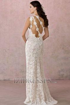 Trumpet/Mermaid Princess One Shoulder Lace Beach Wedding Dresses
