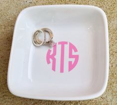 Monogram jewelry by PureHeartCreations Grown Up Christmas List, Monogram Jewelry, Boutique Ideas, Jewelry Tray, Monograms, Madness, Cricut, Craft Ideas, Jewels