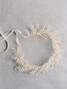 Bridal Crown Crystal Astilbe Blume Krone von MelindaRoseDesign