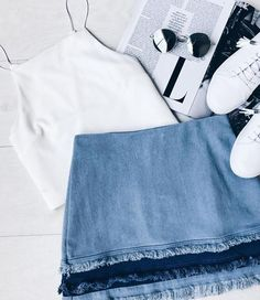 The Like a Dream Light Wash Denim Mini Skirt is our dream realized! Lightweight, light wash denim falls from a high waist into a short, frayed hem with medium wash detail. Exposed metallic back zipper. ** For more information, visit image link.