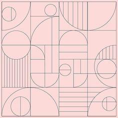 art deco Have you seen the bauhaus outline tr - art Motif Art Deco, Art Deco Pattern, Art Deco Design, Wood Design, Art Deco Art, Art Art, Design Balcon, Boho Pattern, L Wallpaper