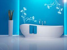 Das Blau ♥ und die Idee mitder Badewanne + Wandtattoo ♥