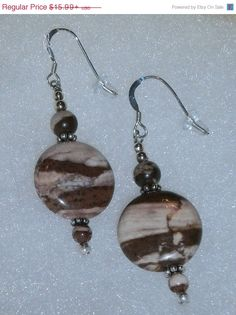Holiday Sale ON NOW 925 Sterling Silver Brown and by dsmenagerie